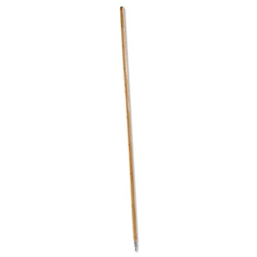 (Metal Tip Threaded Hardwood Broom Handle, 1-1/8