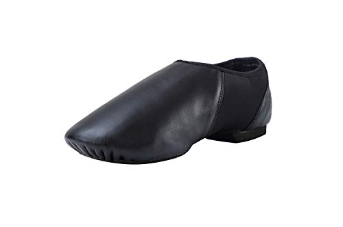 Pegasus galaxy Leather Slip On Jazz Shoe for Girls Boys (Little Child) Black 13.5M