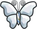 (Stained Glass Supplies - Bevel Cluster Clear Butterfly 4
