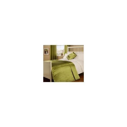 Passion Faux Silk Single Bedspread (Moss Green)