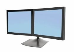 Ergotron 33-322-200 DS100 Dual-Monitor Desk Stand, Horizontal - Stand