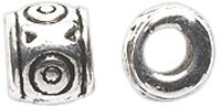 Designer Spacer Beads (Shipwreck Beads Zinc Alloy Spacer Bead Barrel with 3mm Hole, 6 by 7mm, Silver, 100-Pack)
