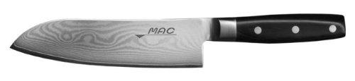 Mac Knife Damascus Santoku Knife, 7-Inch