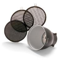 Bowens BW-1865 Grid 60 Degree Reflector 18cm Kit with 3 Grids (Black) by Bowens