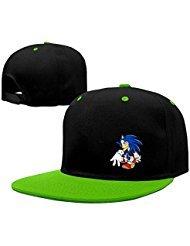 The Sonic Hedgehog Snapback Hip Hop Baseball Cap Hat Adjustable One Size Male/Female KellyGreen By (Female Sonic The Hedgehog)