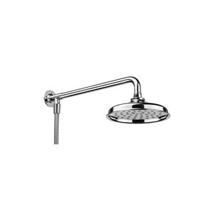 Croydex Chrome Traditional Rain Head Shower Set (Shower Head, Arm ...