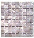 Sheet Pearl Flat - Soho Pearl Mist Gray Flat Squares - 11 3/4 x 11 3/4 - 11 Rows/Sheet - 1 x 1 Chip Size