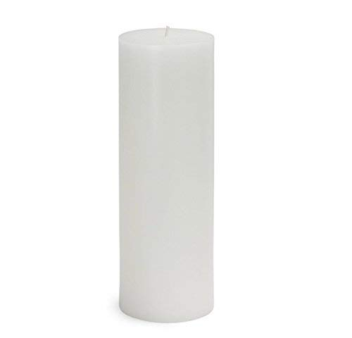 MIster Candle - 3 Inch by 9 Inch Unscented White Pillar Candles for Home Decoration, Weddings, Handmade, Dripless, Smokeless (Set of 2) Made in USA