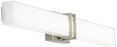 Exeter Modern Wall Light LED Brushed Nickel 36'' Vanity Fixture for Bathroom Over Mirror - Possini Euro Design by Possini Euro Design (Image #4)