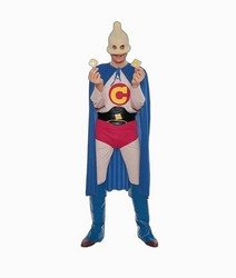 (Forum Captain Condom Humorous Superhero Costume, Multi, One)
