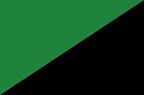 magFlags Large Flag Darker Green and Black | Darker Version of The Green Anarchism Flag | Landscape Flag | 1.35m² | 14.5sqft | 90x150cm | 3x5ft - 100% Made in Germany - Long Lasting Outdoor