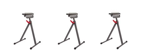 PROTOCOL Equipment RS-011B 3-in-1 Roller Stand (3-(3-in-1)) by PROTOCOL Equipment