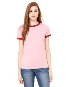 Bella+Canvas 6050 - Ladies' Heather Ringer T-Shirt