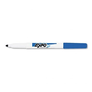 Expo 86003 Low Odor Dry Erase Marker, Fine Point, Blue, Case of 12 Dozen by Expo
