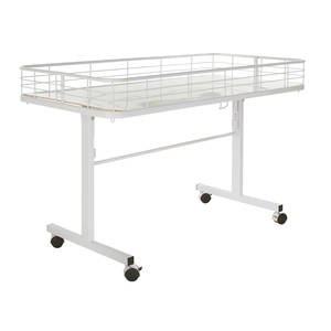 White Folding Table with Wire Fencing by Retail Resource