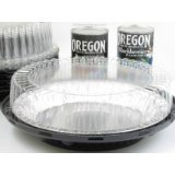 10 Inch High Dome Plastic Disposable/Reusable Pie Carrier #WJ45 (100)