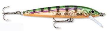 """Rapala Husky Jerk Lures - Sizes 10, 12 & 14 Size: HJ14 (5 1/2"""", 5/8 oz.); Color: Glass Perch (GP)"""