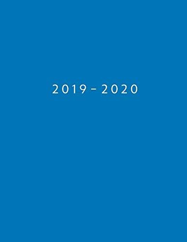 Agenda MAYO 2019 - ABRIL 2020: Vista Semanal con Horario | 1 Semana en 2 Páginas | 12 Meses Planificador y Calendario | 21.59x27.94 cm | 8.5x11 | Azul (Spanish Edition)