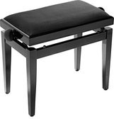 Stagg Piano Bench with Adjustable Height - Black