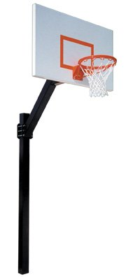 First Team Legend Jr. Extreme Steel In Ground Fixed Height Basketball System44; Forest Green by First Team
