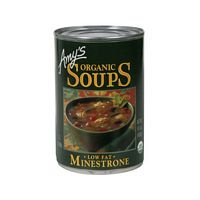 - Amys Organic Minestrone Soup; Low Fat, 14.1 ounce each - 12 per case.