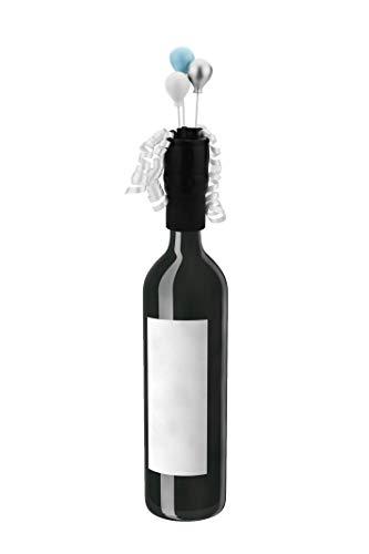 Celebration Design Bottle Stopper -  Bottleful Bows Reusable Blue Balloon Design Wine/Liquor Topper Stopper Cork Sealer Bottle Decor | Gift