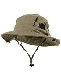 Canvas Fisherman Hat-Khaki
