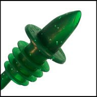 WIDGETCO Sparkle Green Plastic Pour Spouts by WIDGETCO