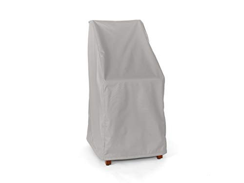 Depth 48in - Covermates - Stacking Chair Covers - Fits 26 Inch Width, 28 Inch Depth and 48 Inch Height - Ultima Ripstop - 600D Fade Resistant Poly - Breathable Covered Ventilation - 7 Year Warranty - Ripstop Grey