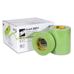 3M Scotch 233+ Performance Masking Tape, 250 Degree F Performance Temperature, 25 lbs/in Tensile Strength, 60 yds Length x 2