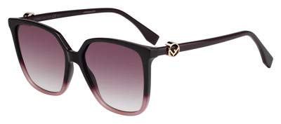 Fendi FF 0318/S 8CQ3X Sunglasses Cherry Frame Pink Gradient Lenses 57mm