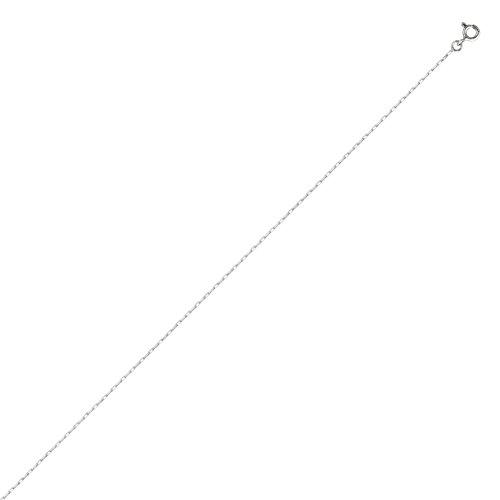 DIAMANTLY Collier en or gris 750 forcat clair diamant 1,1 mm - 40 cm