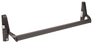 CRL Dark Bronze Cross Bar Panic Exit Device - Left Hand Reverse Bevel Rim - DL1190LHRDU