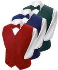 Men's Poly Twill Tuxedo Vest Full Back Vest