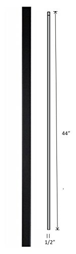 "Hollow Metal Stair Baluster Spindle PLAIN BAR 1/2"" X 44"""