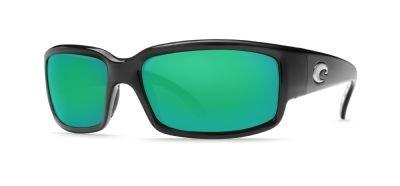 Costa Del Mar CL11OGMGLP Caballito Sunglass, Black Green Mirror