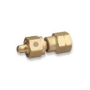Western Enterprises 808 Brass Cylinder Adaptors, From CGA-350 Hydrogen to CGA-580 Nitrogen
