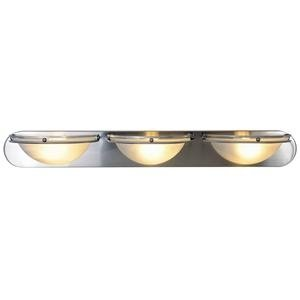 Monument 617608  Contemporary Vanity Fixture, Brushed Nickel, 36 In.