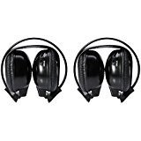 Two Pack of Two Channel Folding Universal headphone for Car
