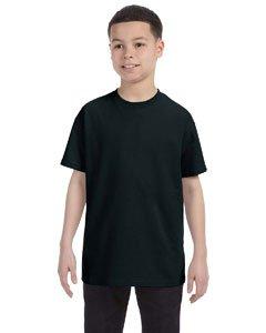 Youth Big Time T-shirt - Gildan boys Heavy Cotton T-Shirt(G500B)-BLACK-M
