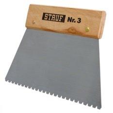 Stauf /® Zahnspachtel 3 Spachtel zum Verkleben von Bodenbel/ägen