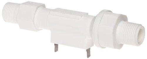 Gems Sensors FS-150 Series Polypropylene Flow Switch with Low Pressure Drop, Inline, Piston Type, Normally Open, 0.5 gpm Flow Setting, 1/2'' NPT Male by Gems Sensors