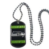 NFL Officially Licensed Dog Tag Necklace (Seattle Seahawks)