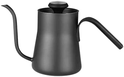 OYSTERBOY Gooseneck Kettle 18.6oz/ 0.55L with Thermometer Food Grade Stainless Steel Triple Layered Base Anti-Rust Precision-Flow Spout for Hand Pour-over Drip Brewing Coffee & Tea & All Stovetops