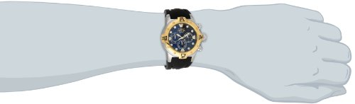 """Invicta Men's 14087 """"Excursion"""" 18k Gold Ion-Plated Stainless Steel and Silicone Watch"""