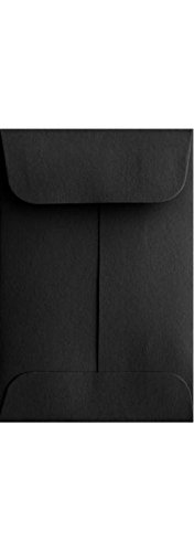 #1 Coin Envelopes (2 1/4 x 3 1/2) - Midnight Black (1000 Qty.) | Perfect for Weddings, Parties & Place Cards | Fits Small Parts, Stamps, Jewelry, Seeds | Mini / Crafting Envelopes | 80lb Text Paper