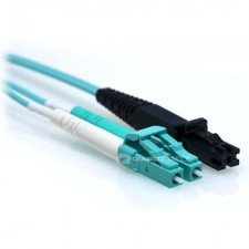 1m LC/MTRJ 40/100GB Duplex 50/125 Multimode OM4 Fiber Patch Cable Aqua by LinkCable