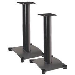 Sanus SF22B Black (Pr) 22-inch Steel Foundations Speaker Stands