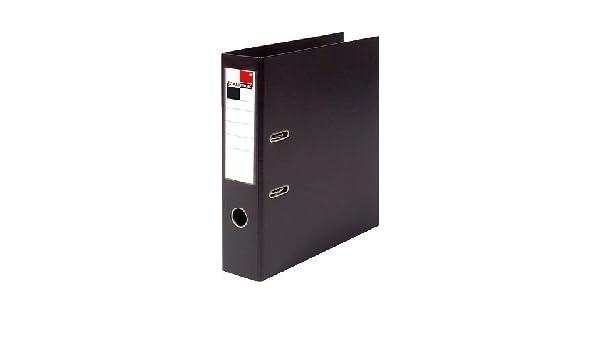 calipage carpeta A4 PP 80 mm Negro: Amazon.es: Oficina y papelería