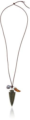"CHAN LUU Fall"" Leather Strand Charm Necklace"
